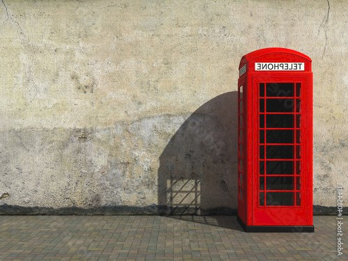 Classic red telephone booth
