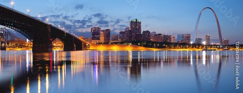 City of St. Louis skyline.