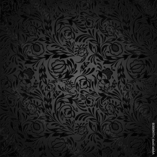 Black  floral wallpaper pattern.