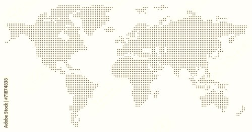 Dotted World Map - grey