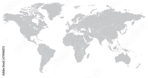 Hi Detail Vector Political World Map illustration