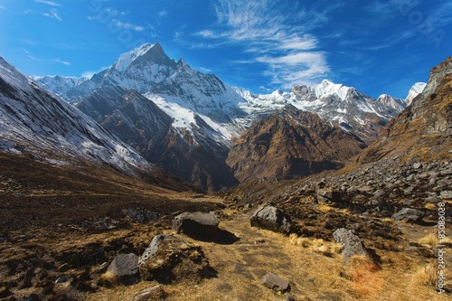 View of Machhapuchchhre mountain - Fish Tail in English is a mou