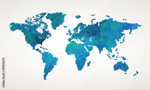 World map vector abstract illustration pattern