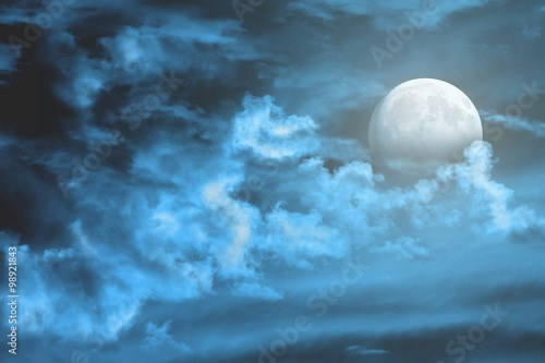 Moon and clouds.