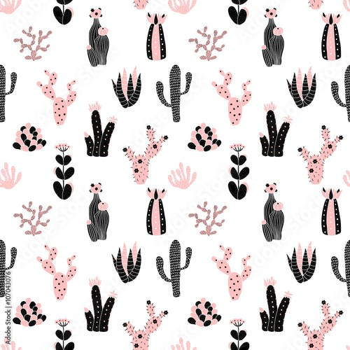 black and pink pattern