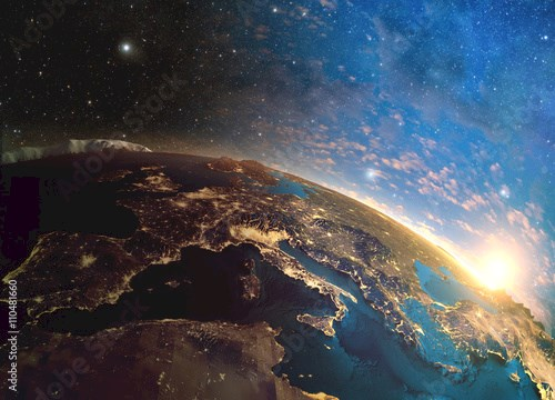 Detailed colorful Earth,