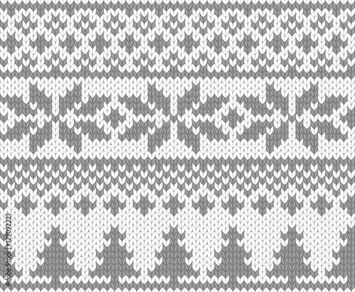 Christmas knitted background