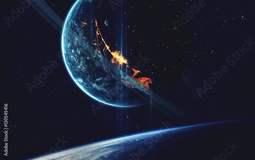 Planet Explosion - Apocalypse - End of The Time. Elements of this image furnished by NASA