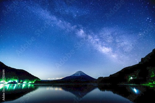 Fuji Mountain and the Milky Way
