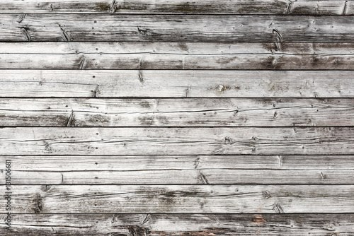 Weathered old wood texture, horizontal obsolete planks background