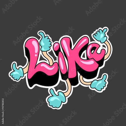 Like in Graffiti style painting, vector