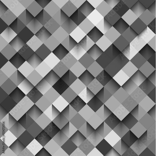 Seamless background pattern with squares and shadows, eps10 vector