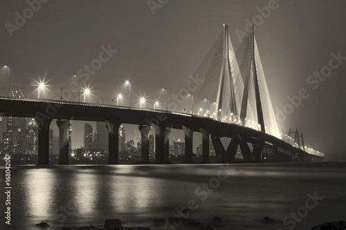 Bandra Worli Sealink at night