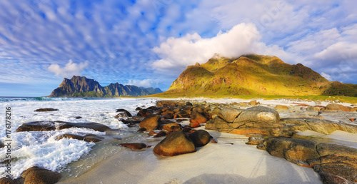 Seascape of Lofoten islands