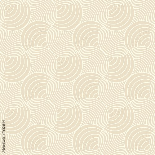 Pattern seamless circle abstract wave background stripe green aqua and white line colors. Geometric line vector.