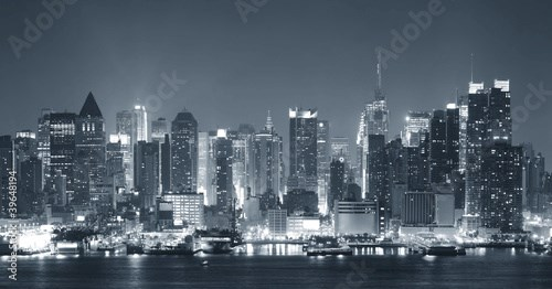 New York City nigth black and white