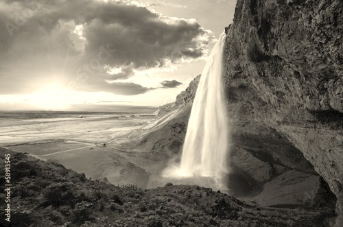 Waterfall, Iceland - Seljalandsfoss