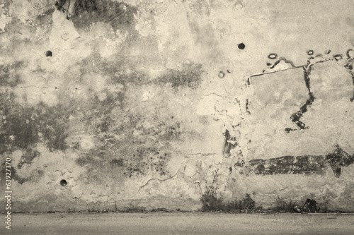 Wall & Faded Grafitti Background Texture with Abandoned Shoe