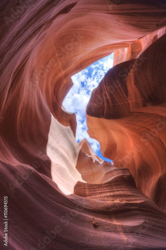 Slot Canyon with Sky