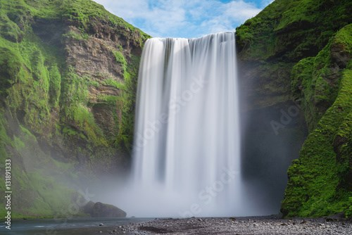 Skogafoss waterfall long exposure