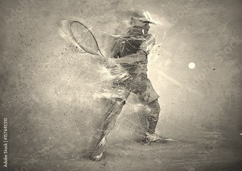 abstract tennis player