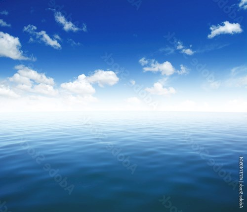 Blue sea water surface