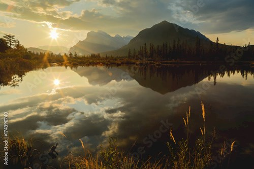 First Light In Canadian Rockies